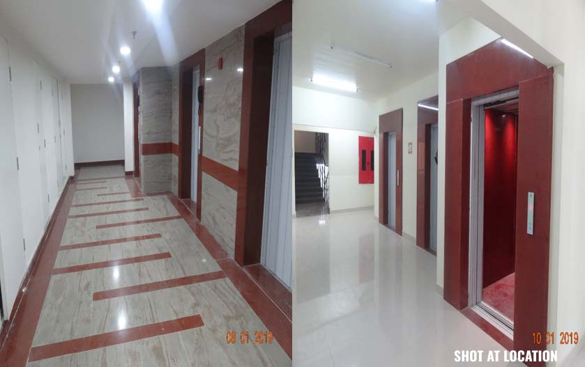 Corridor finishing work 90% completed