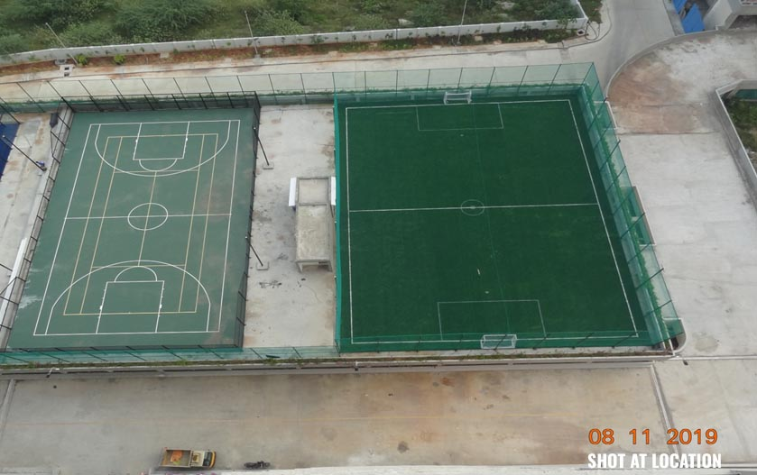 BASKET BALL COURT FROM TOP VIEW