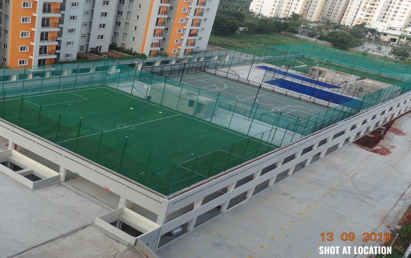 PADAL COURT & FOOT BALL COURT ON MARIGOLD PODIUM