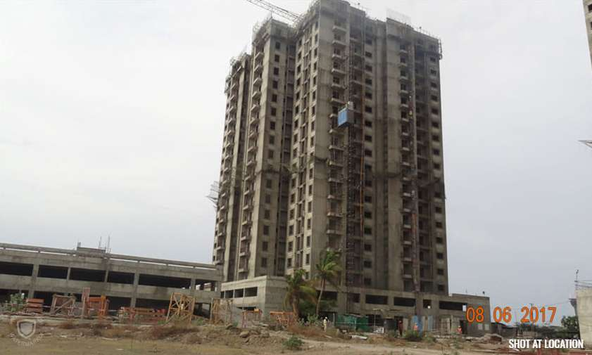 Almond : Tiling work – 3rd floor in progress, Putty work – 10th floor in progress, Toilet Water proofing – 12th floor in progress