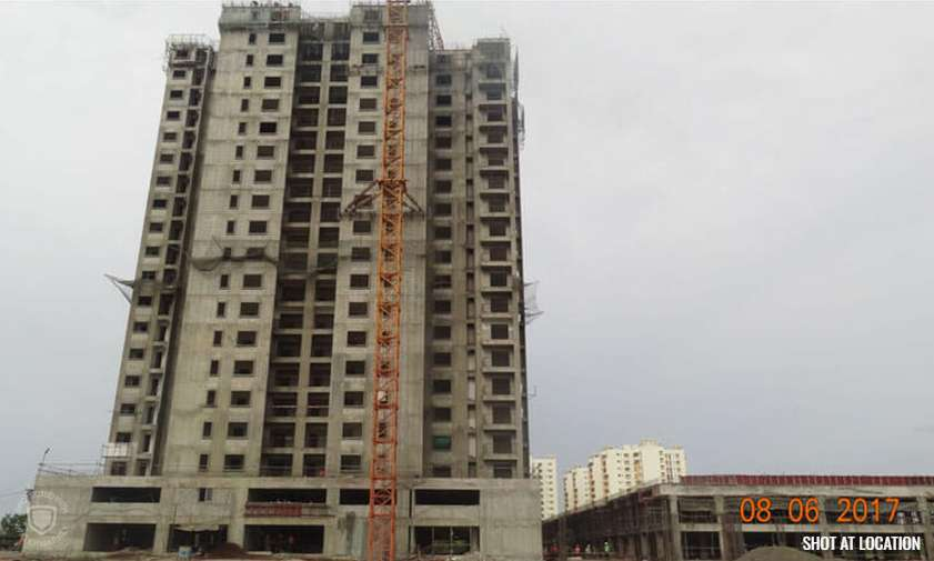 Marigold : 18TH floor structure completed, Tiling work – 2nd floor in progress, Putty work – 14th floor in progress & Water proofing work- 12th floor in progress